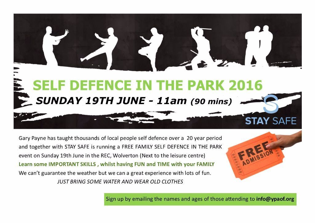 FREE Self Defence in the Park