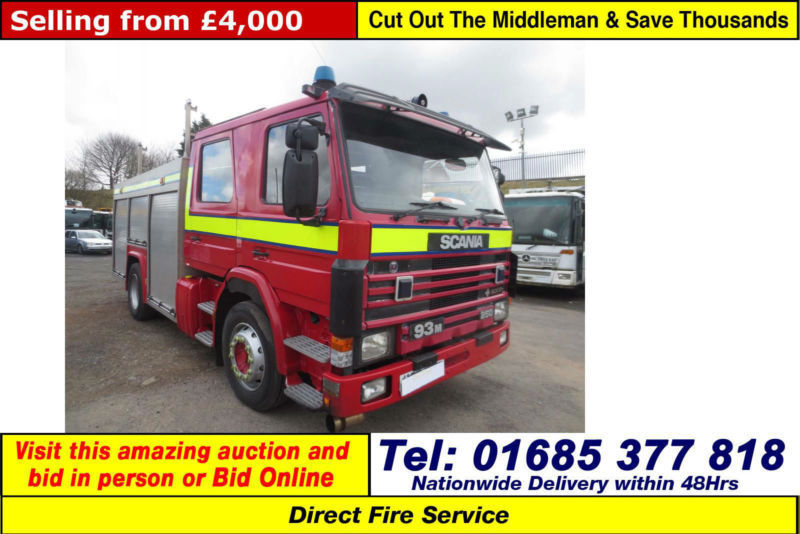 1992 - K - SCANIA 93M 250 AUTO SAXON FIRE TENDER (GUIDE PRICE)