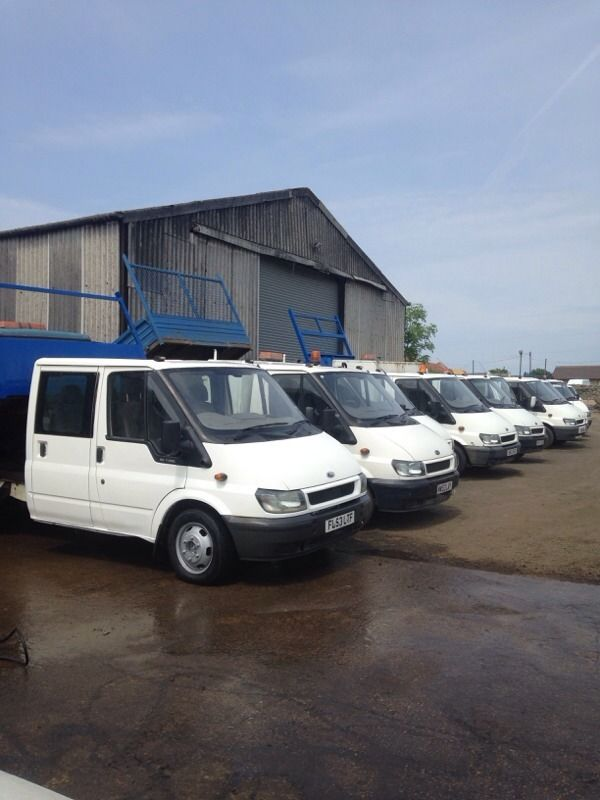 Ford transit tippers