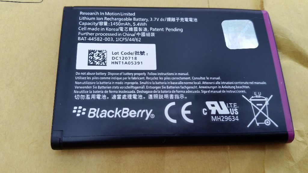 Blackberry curve battery js 1 Brand new bought it off Ebay