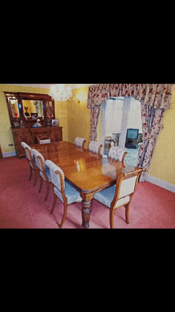 Table chairs and sideboard