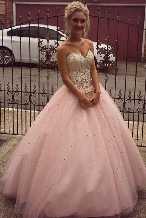 Mori Lee champagne and blush prom dress