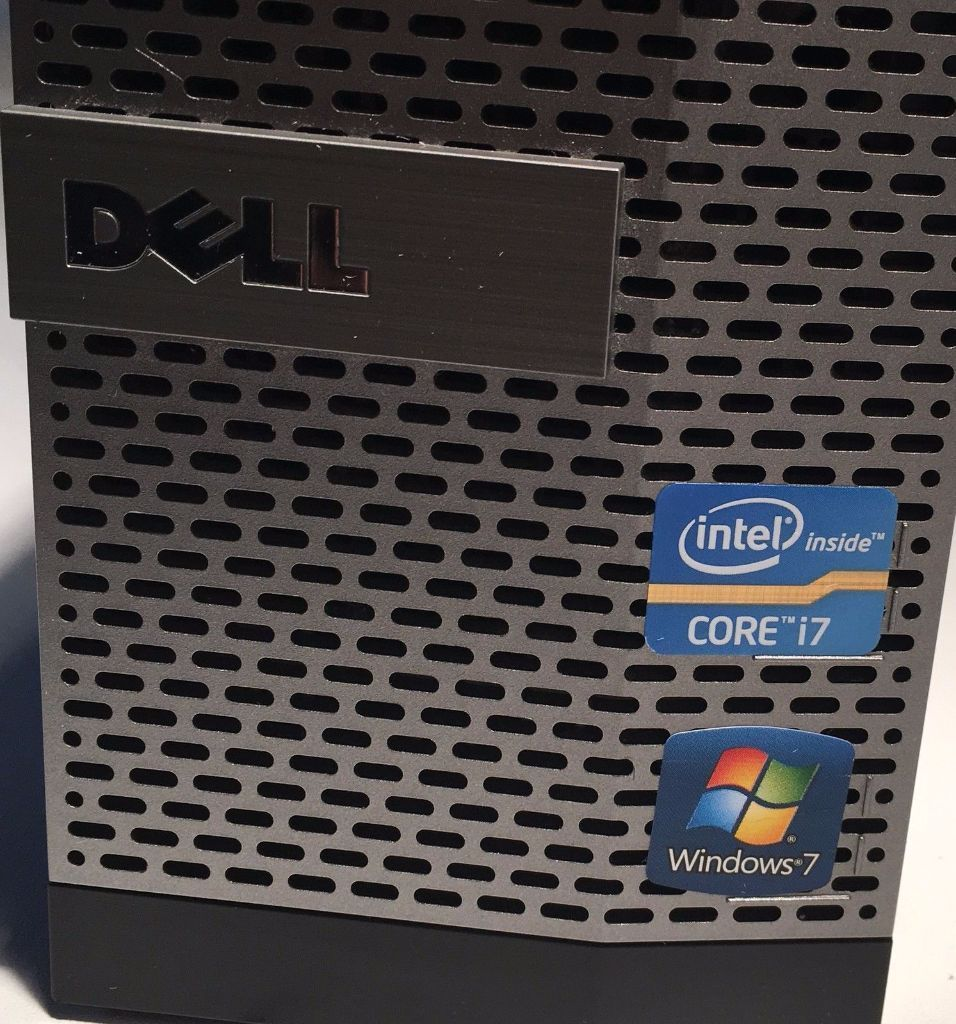 Dell Optiplex 790 SFF PC Windows 7 Pro - Intel i7 3.40GHz 4Gb 250Gb WiFi FAST & READY
