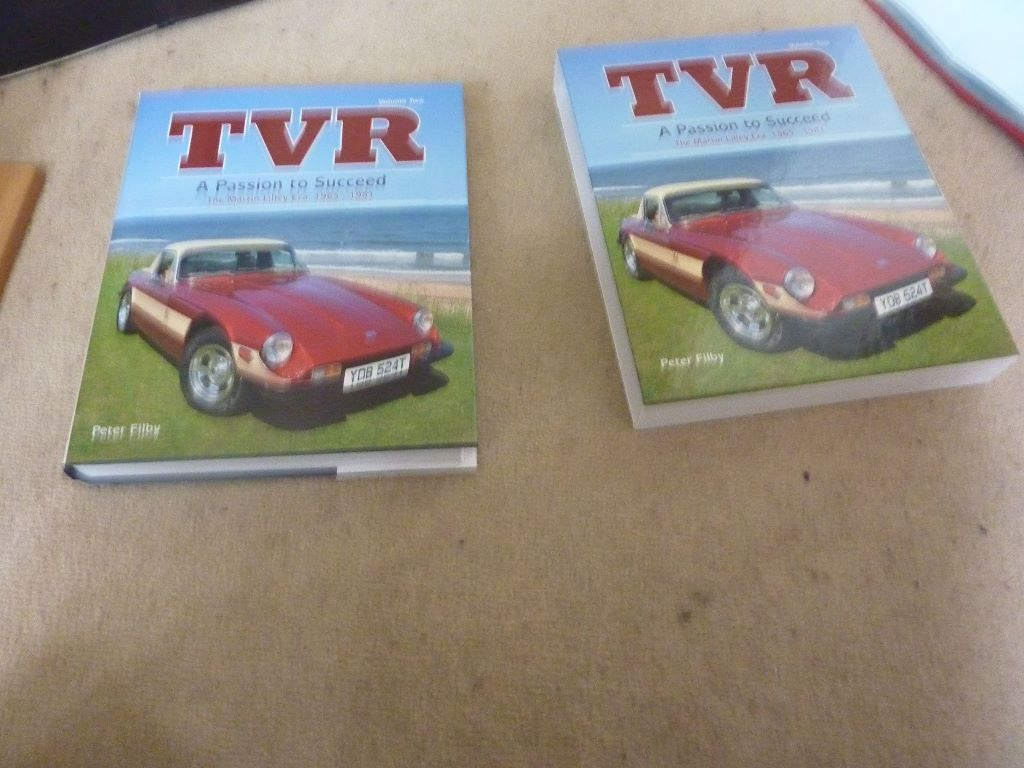 TVR Book A Passion to Succeed The Martin Liley Era 1965-1981 signed by Martin Liley & Peter Filby