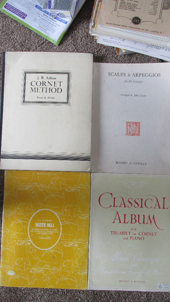 Trumpet scores and books