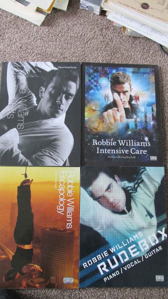Pop music scores for piano guitar and vocals:- robbie williams nora jones abba katie melua eagles