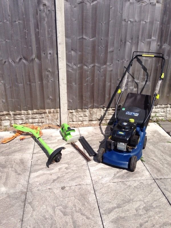 Challenge Extreme Garden Bundle! Petrol Lawnmower,Strimmer,Hedge Cutter!