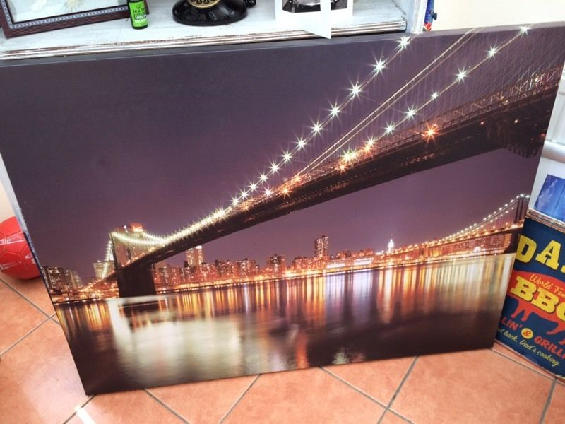 Brookly Bridge Large Canvas