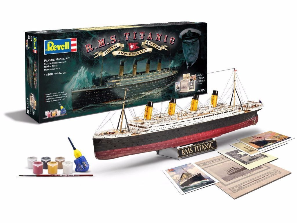 R.M.S Titanic - 100th Anniversary (Revell 0571) 1:400 Plastic Kit - Model - New