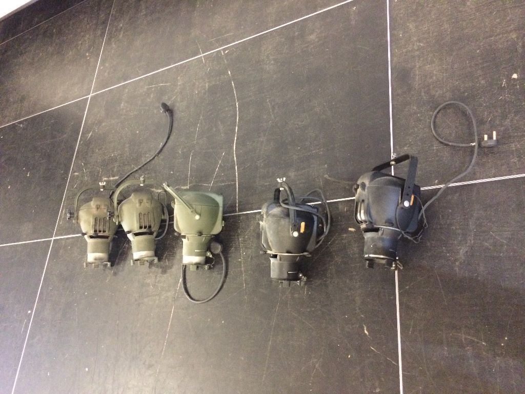 Theatre lanterns/lights ideal for use or Interior Decorating. Vintage