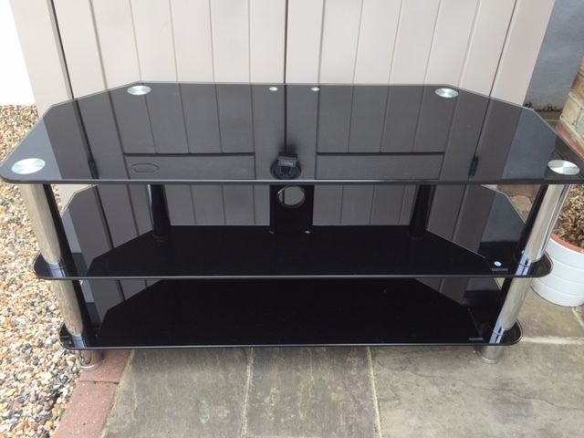 42 inch TV glass table