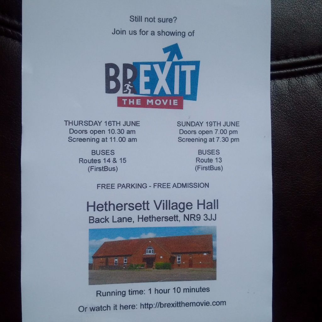 Brexit The Movie Screenings & Collection for Balls To Cancer