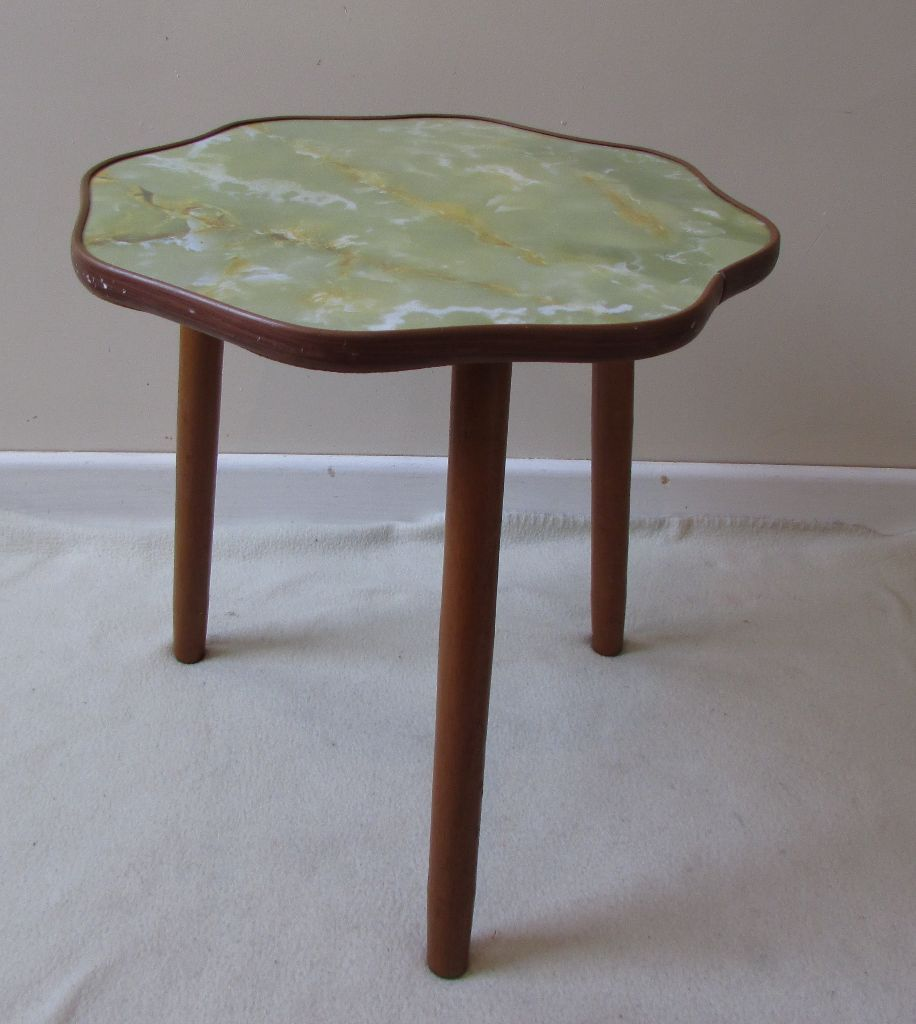 Retro side table coffee table unusual small corner table H: 40cms