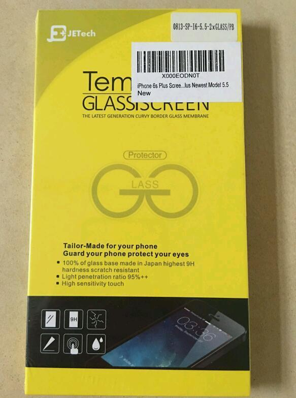 iPhone 6s Plus tempered glass screen protector 2 pack (JETech)