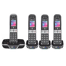 BT 8600 QUAD DIGITAL CORDLESS ANSWER PHONE WITH ADVANCED CALL BLOCKER
