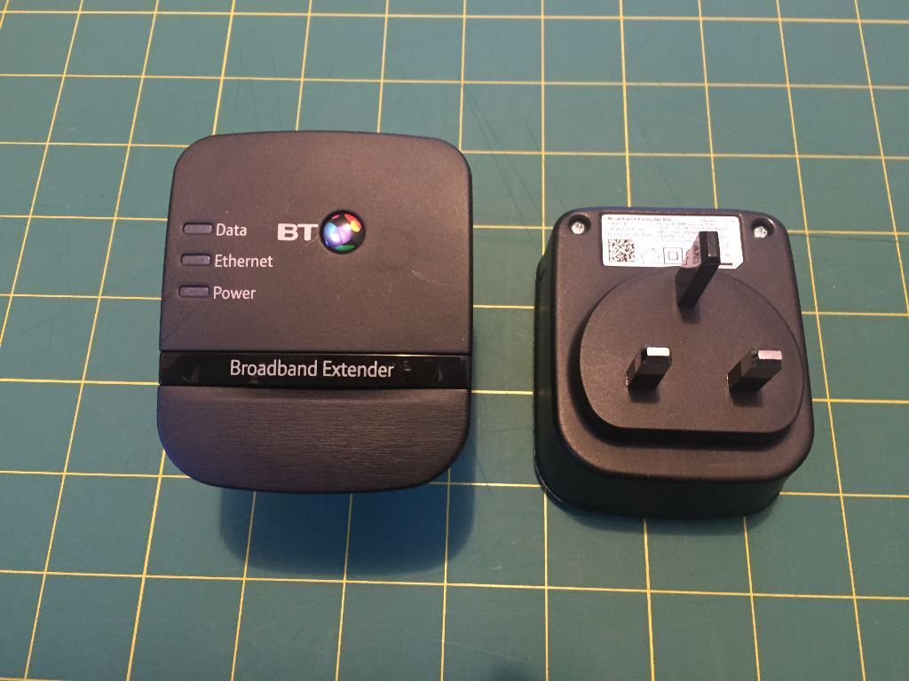 BT Broadband Extender 500 Kit (2 Units) Powerline Adapter - As New