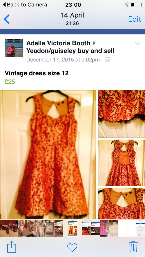 Beautiful one of vintage dress
