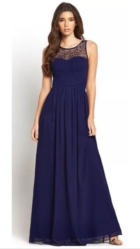 Little Mistress Embellished Maxi Dress Prom / Bridesmaid / Dance