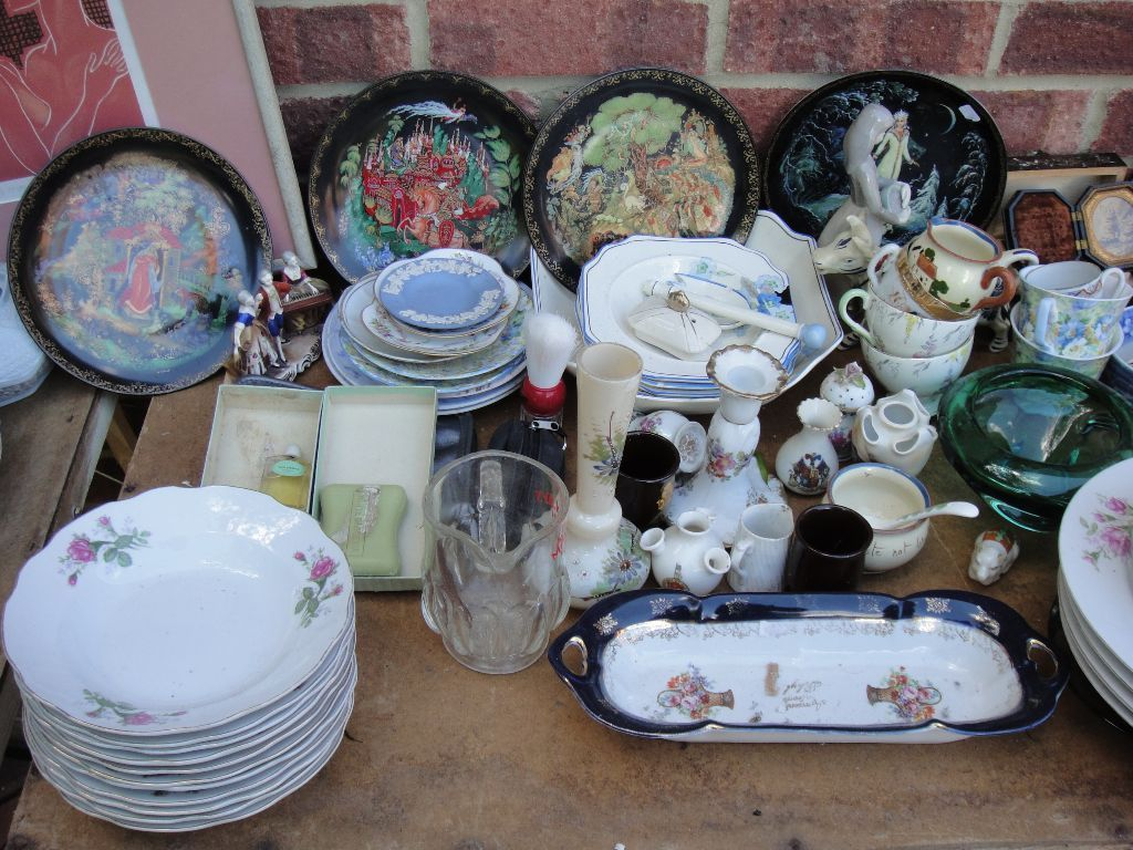 REDUCED! Car Boot Job Lot - Fine Bone China - Porcelain - Milk Pourers - Goebel Plates