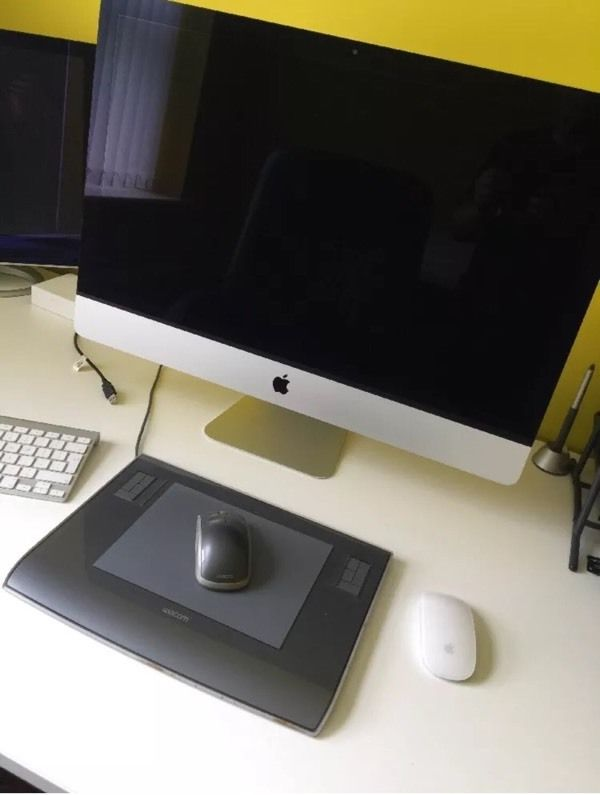 Apple iMac 27 inch with Wacom Tablet