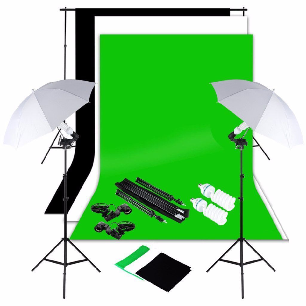 Studio Photography Continuous Lighting Kit With Heavy Duty Kit Bag