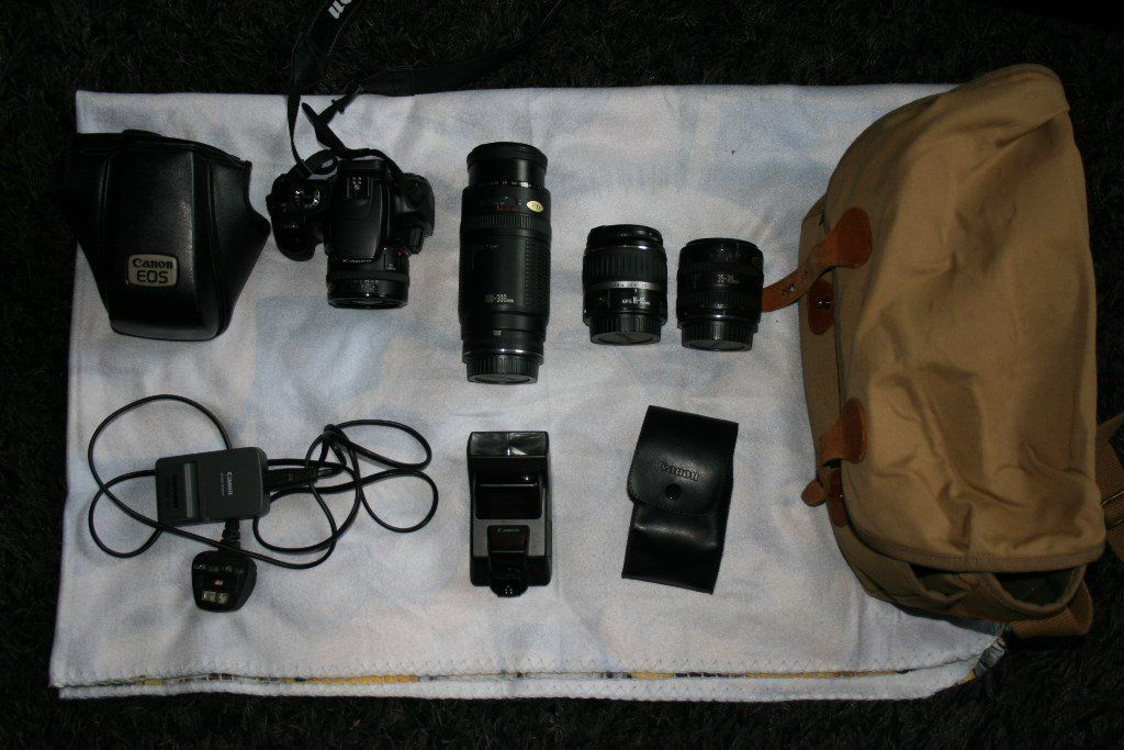 canon eos 400d with extra lenses