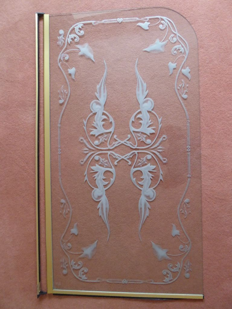 Bath Shower Screen with Gold Trim (Collection Only)