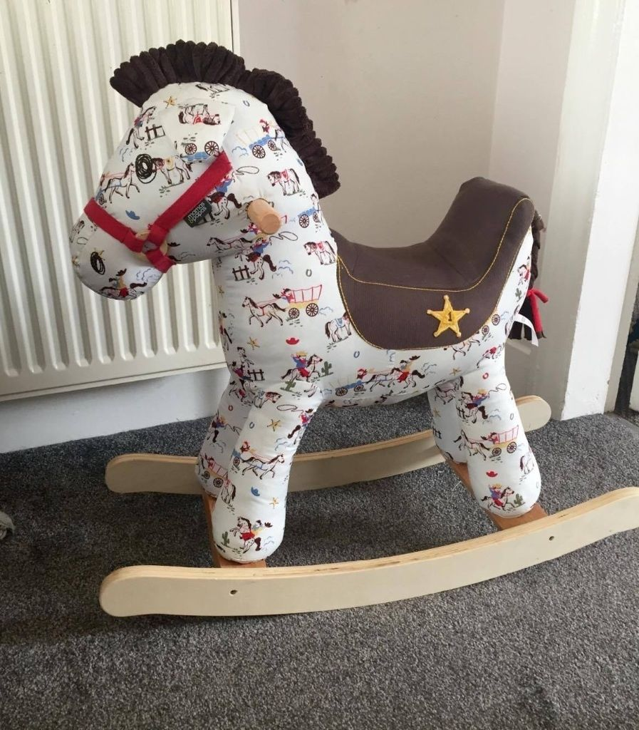 Mamas & Papas cowboy print rocking horse with sound