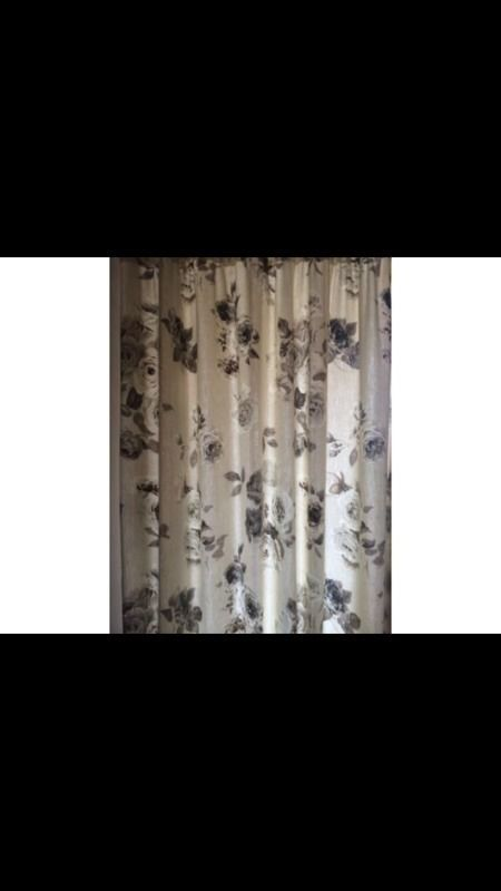 Next floral pleated curtains