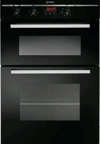 BRAND NEW INDESIT BUILT-IN ELECTRIC DOUBLE OVEN FIMD 23BK (BLACK) 60CM