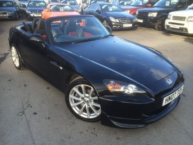 2007 HONDA S2000 16V FANTASTIC BERLINA BLACK WITH BLACK AND RED LEATHER FA
