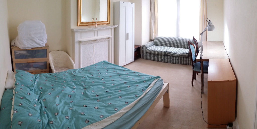 Extra large double room to rent, W5, Ealing, 17m2