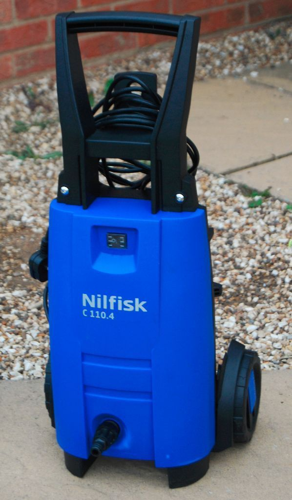 110 Bar Nilfisk C110.4 X-Tra Pressure Washer With Long Life Metal Pump (Condition Like new)