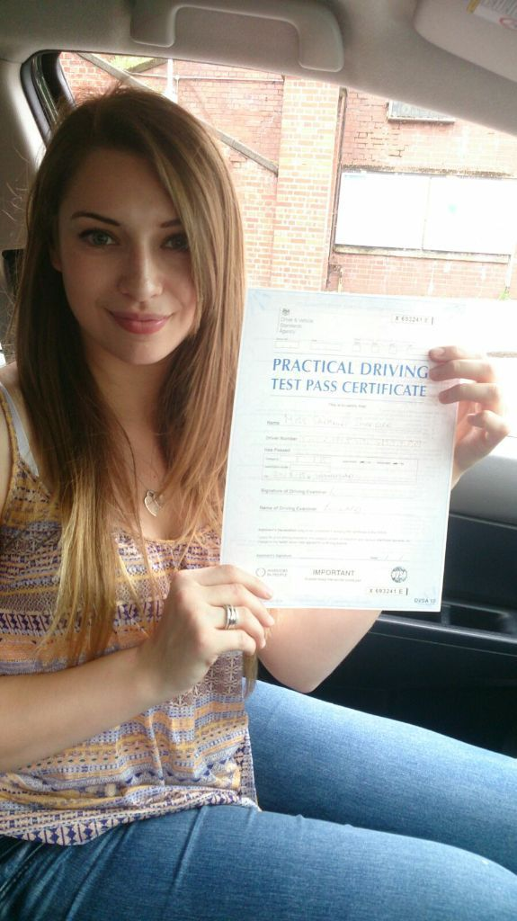Approved female driving instructor with a very high pass rate
