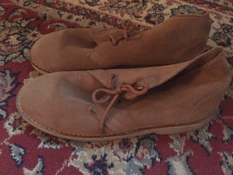 Suede brown shoes