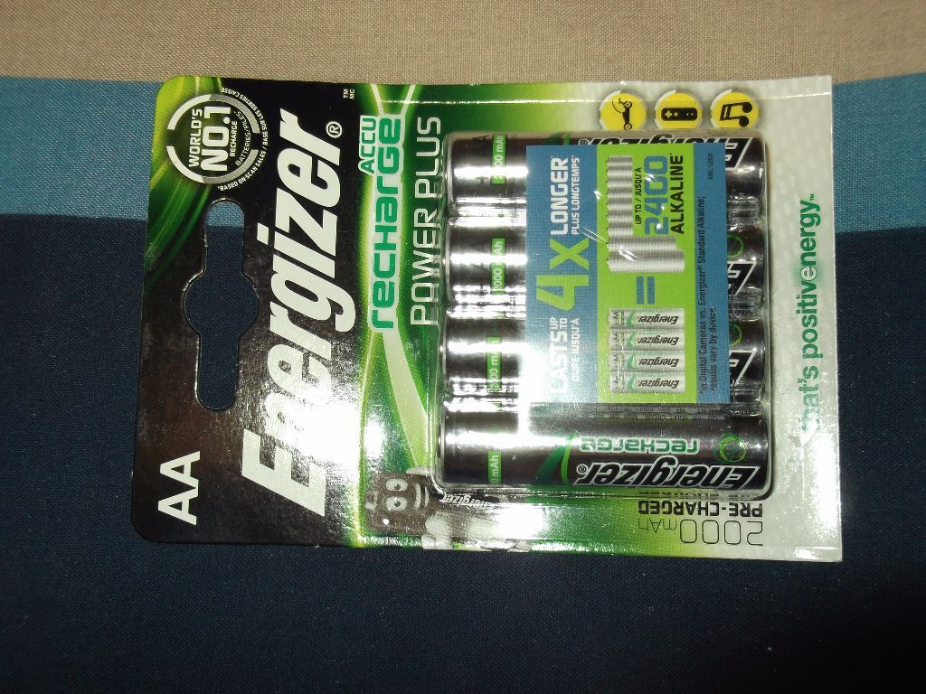 three packs AA RECHARGEABLE BATTERIES (ENERGIZER)