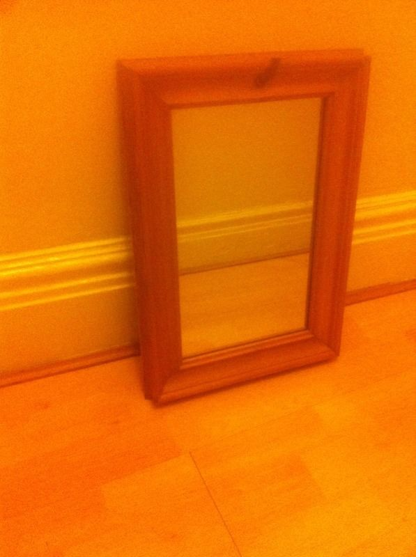 Classic wooden mirror