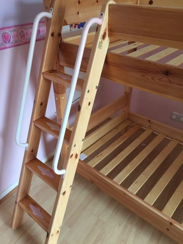 Solid pine princess bunkbeds made by Toca