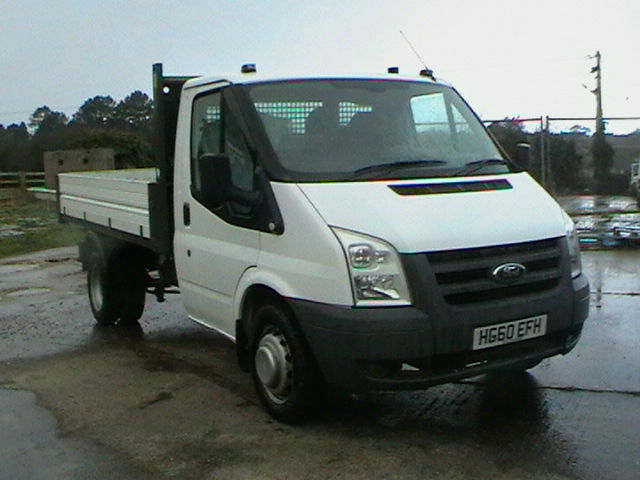 60 REG 2010 FORD TRANSIT 115 T350 RWD SINGLE CAB TIPPER IN WHITE (UNLETTERED)