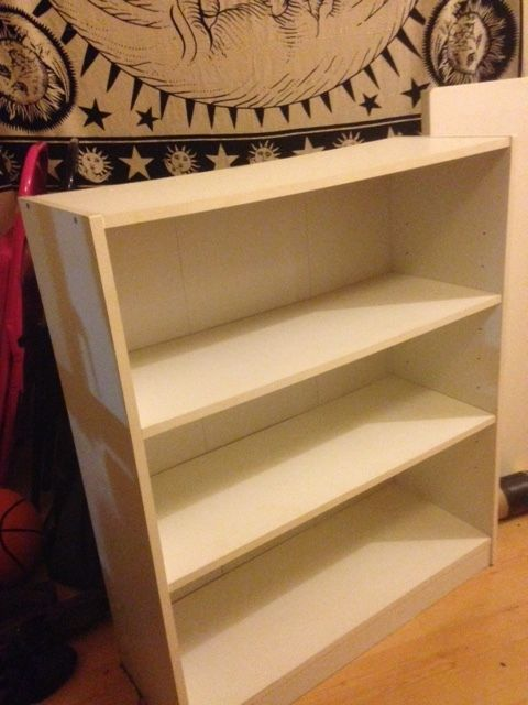 White bookcase, good condition!