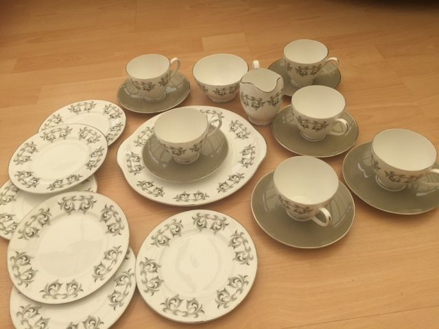 Royal Adderley Fine China 21 Piece Tea Service - 6 place settings
