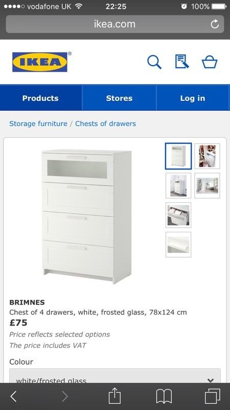 IKEA BRIMNES chest draw - 4 drawers - very good condition