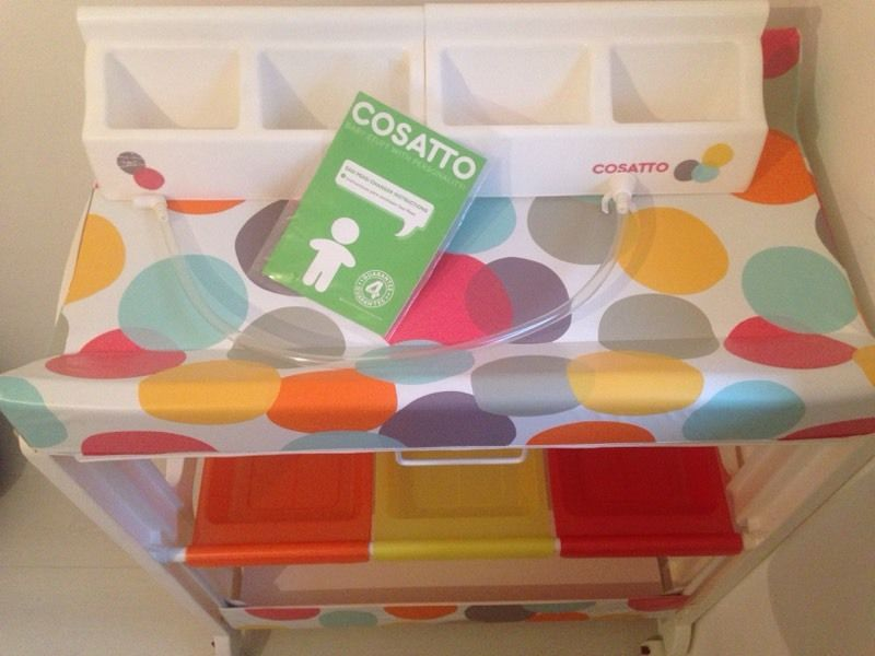 Baby Changing Unit - COSATTO unisex with bath tub and drainage pipe