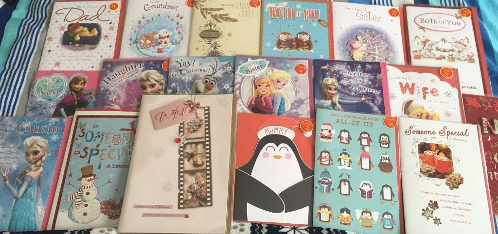 *QUICK SALE WANTED * 1350 ASDA CHRISTMAS GREETING CARDS INCLUDING 300 HALLMARK + 300 ME TO YOU CARDS
