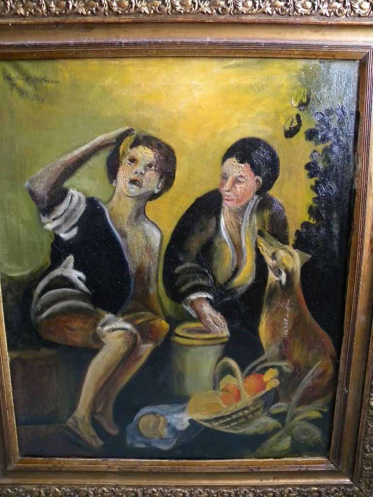Original oil painting by Polish artist Wlastimil Hofman (1881-1970)