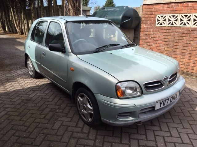 NISSAN MICRA 1.4 PETROL 2001 LIGHT GREEN ***MOT 6th APRIL 2017, CD PLAYER***