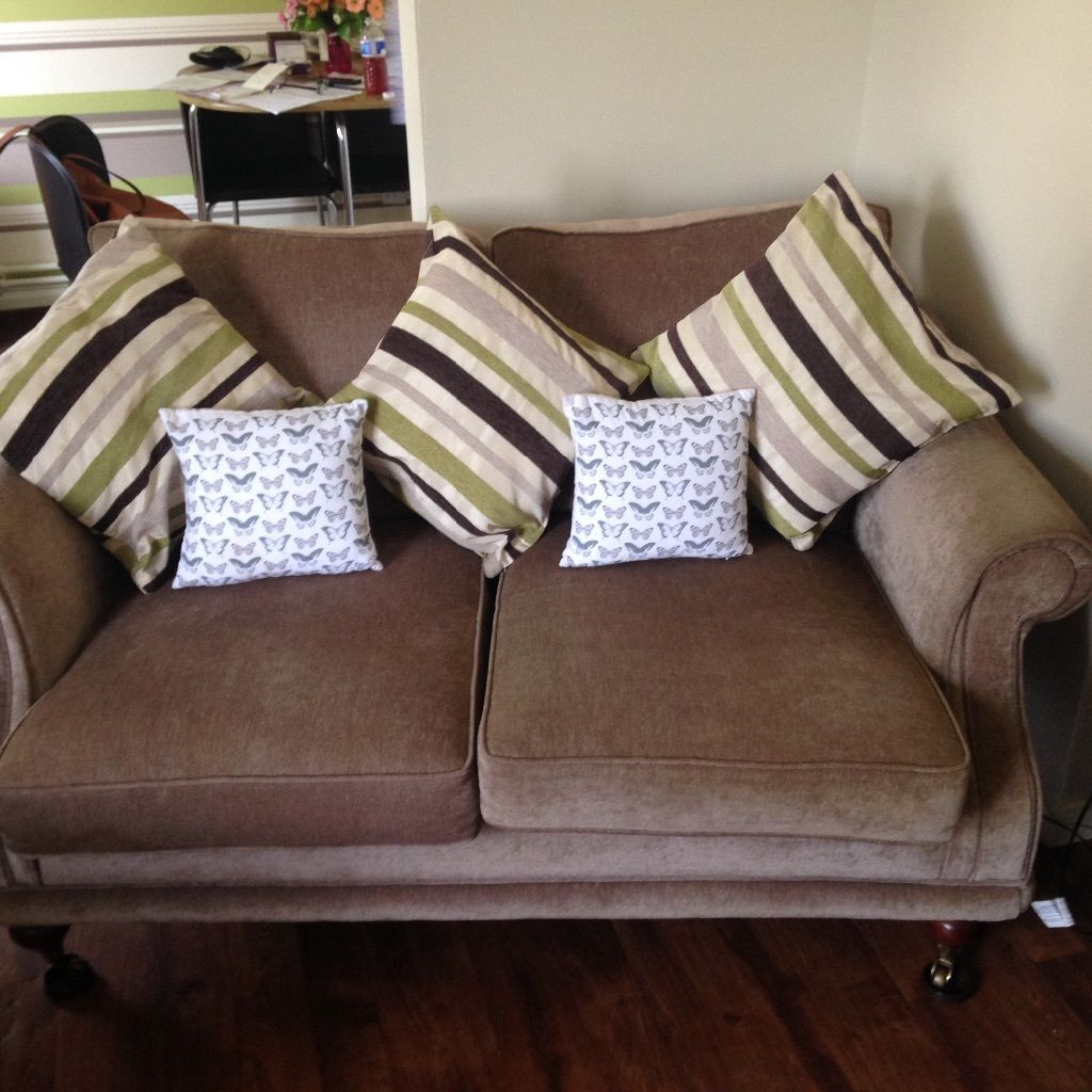 Lazy boy arm chairs and two seater sofa