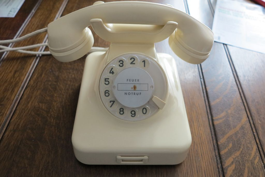 Cream Bakelite Telephone