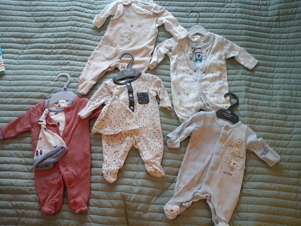 baby boys clothing bundle (early baby, small baby, newborn and up to 3 months)