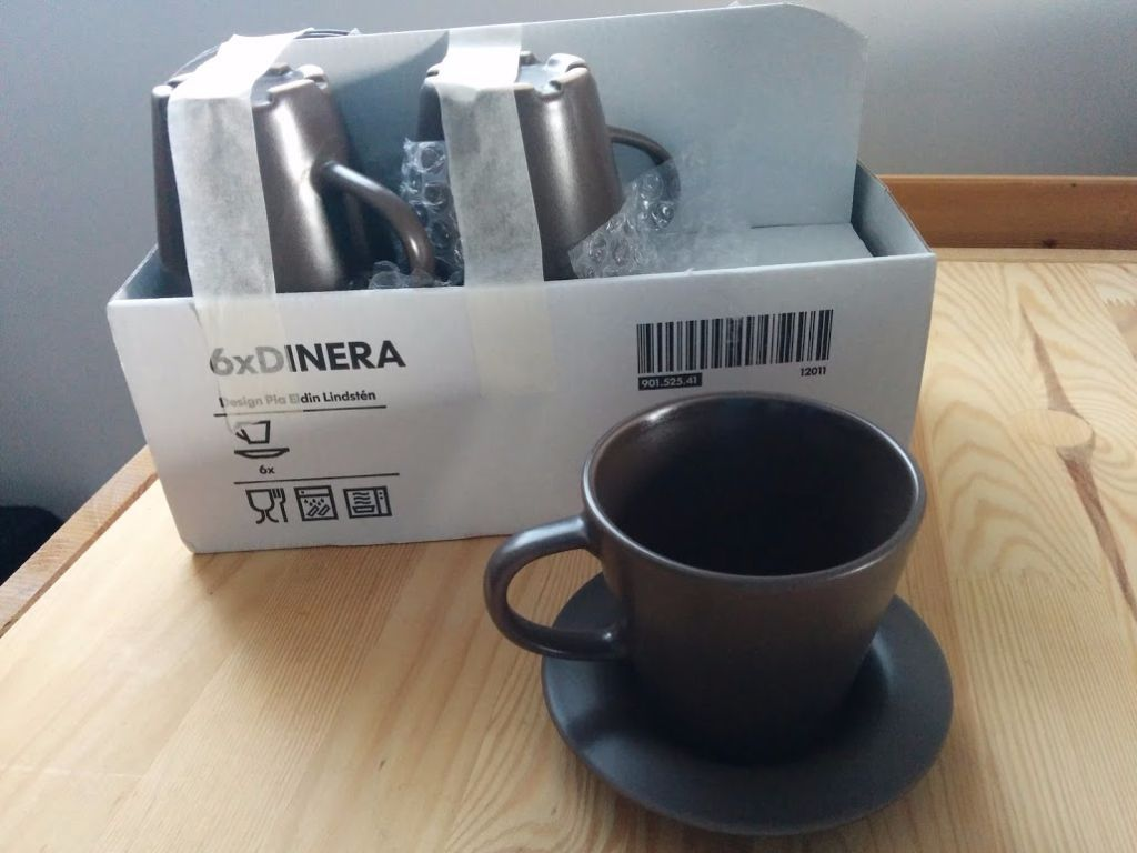 Ikea coffee cups, new, still boxed
